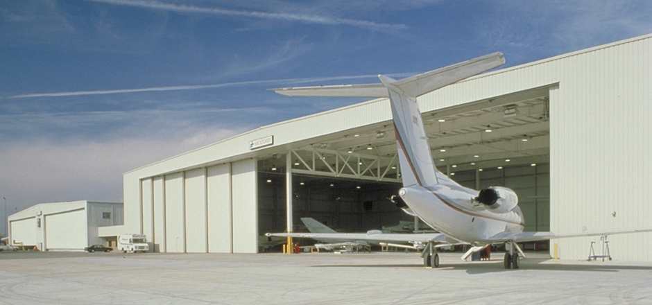 How To Construct a Wider Space of Hangars for Aircraft?